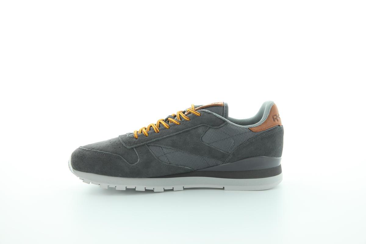 Reebok Classic Leather OL Mens Shoes Ash GreySteel Blue bd2036