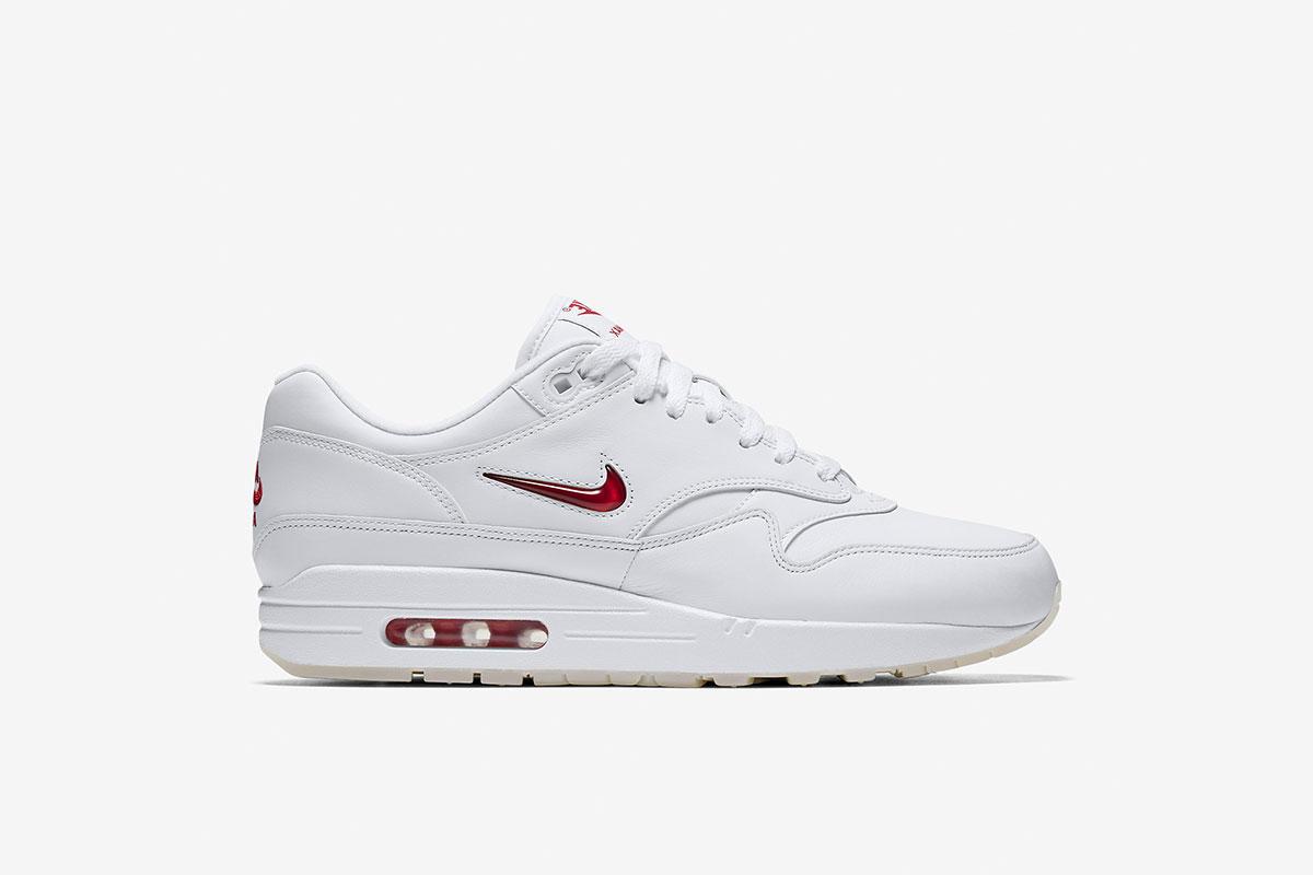Nike Air Max 1 Premium SC Jewel Swoosh (Weiß Rot) 918354 104