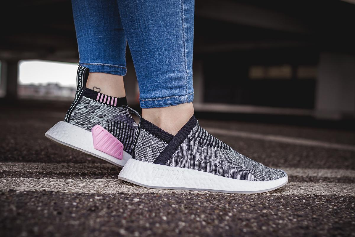 adidas Originals NMD CS2 PK Primeknit City Sock Boost (schwarz pink) (EU 47 13 US 12.5)