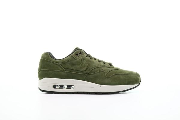 Nike Air Max 1 Men's Shoes Sz 10 Premium Suede Olive Green White 875844 301