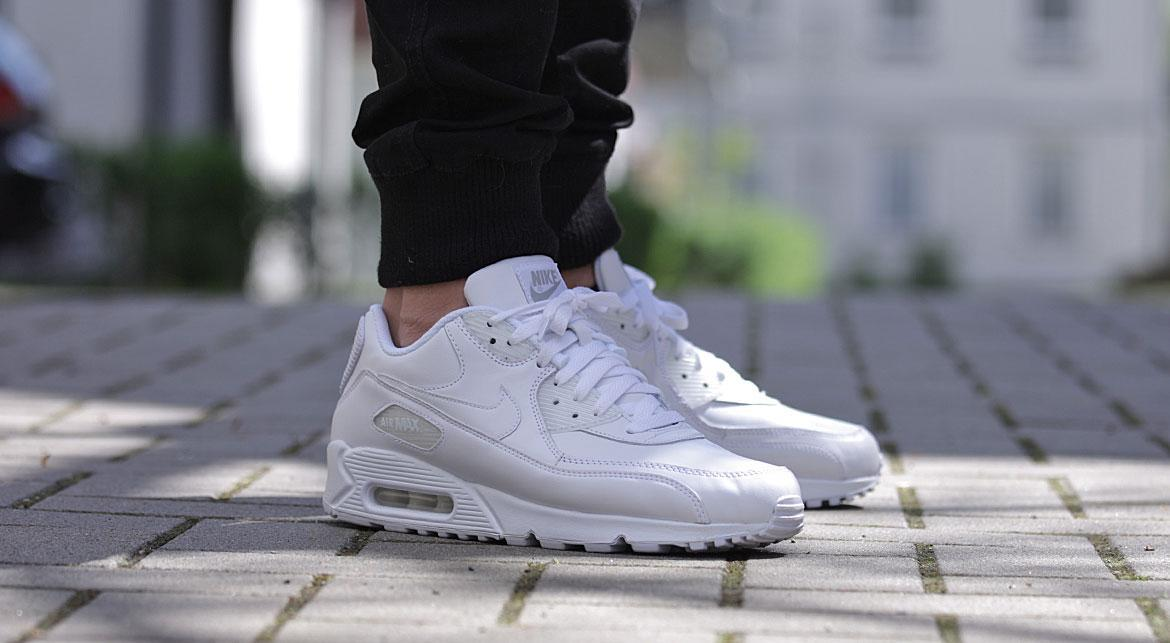 Nike Air Max 90 Leather All White   302519 113   AFEW STORE