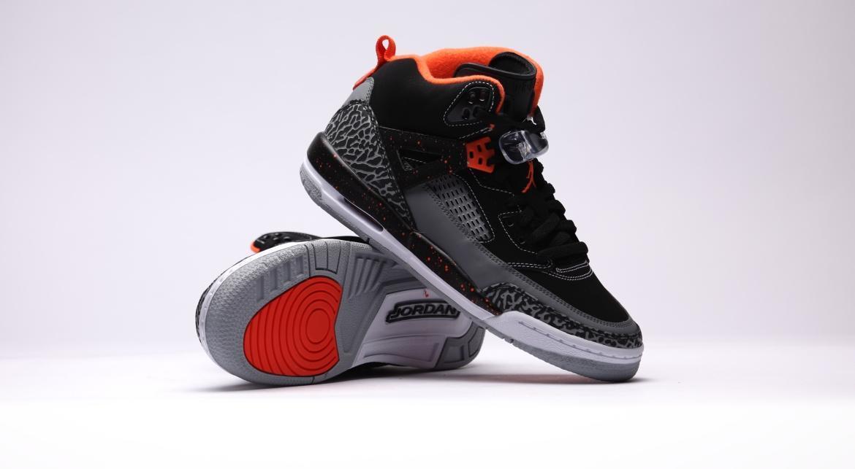 Jordan Nike Kids Spizike BP Black//Elctr Orng//Cl Gry//WLF Gry Basketball Shoe 11.5 Kids US