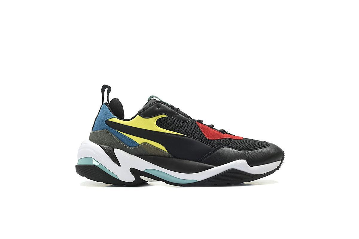Puma Thunder Spectra Black White Red 367516 01 Mens Casual Sneakers