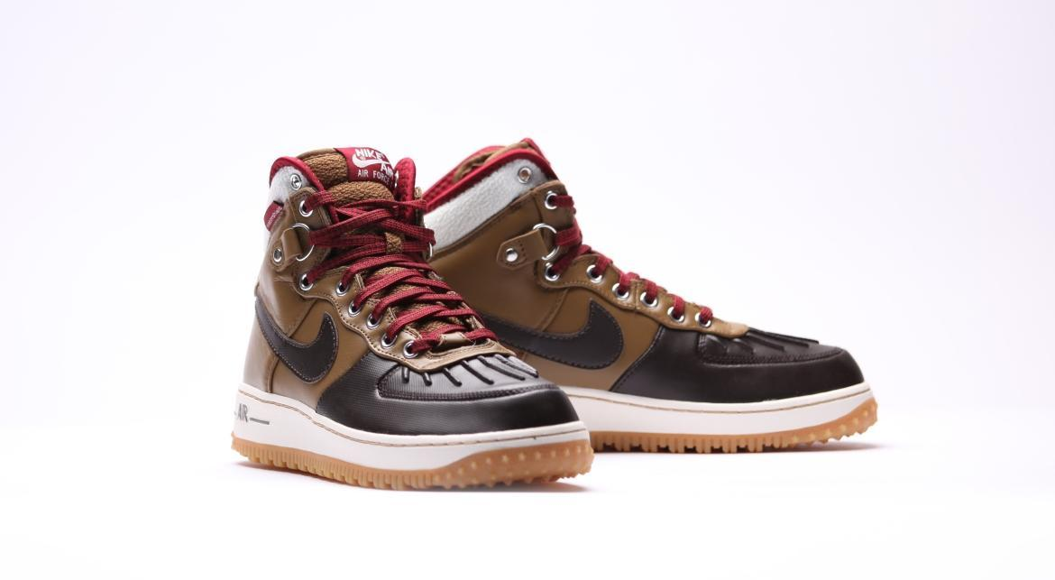 Nike Air Force 1 Duckboot Velvet Brown | 444745 301 | AFEW