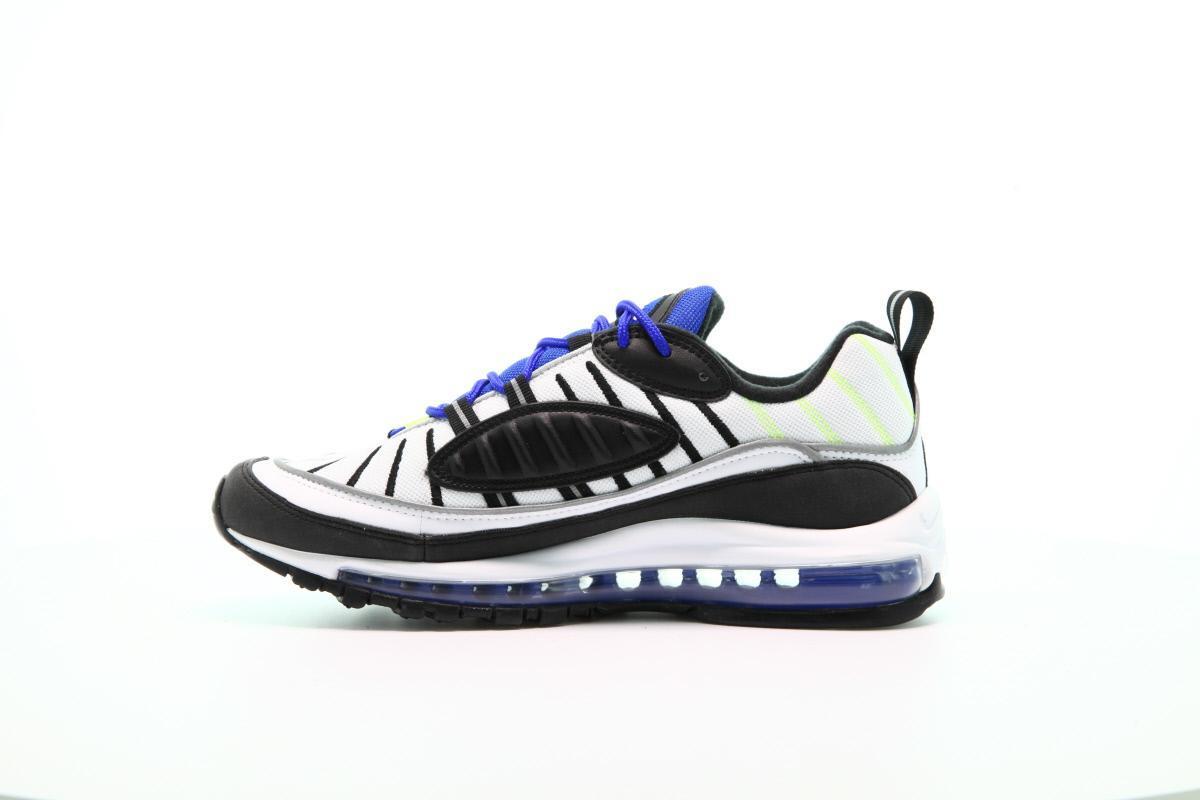 nike air max 98 Weiß & schwarz & racer blue