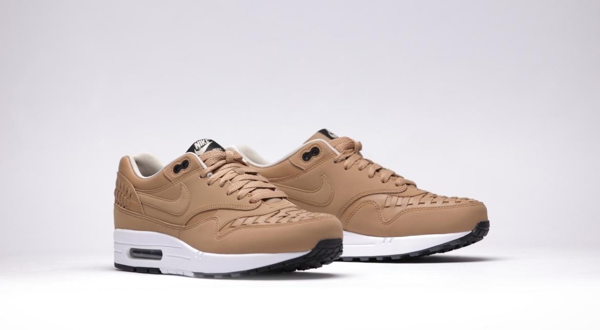 Nike Air Max 1 Woven Men/'s Shoes Pale Shale//Black 725232-200