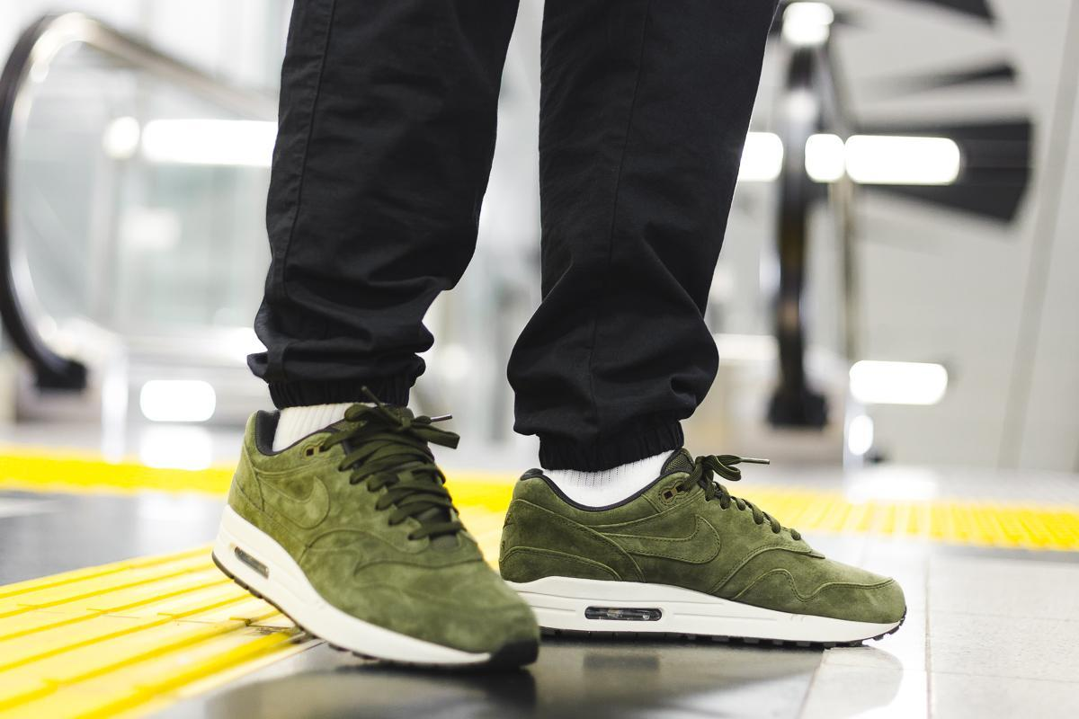 Nike Air Max 1 Premium Olive Canvas 875844 301 | OUTBACK