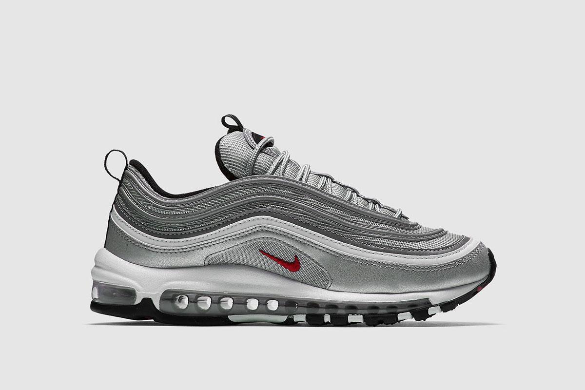Nike 884421 001 Air Max 97 OG QS Sneaker Silber|45.5