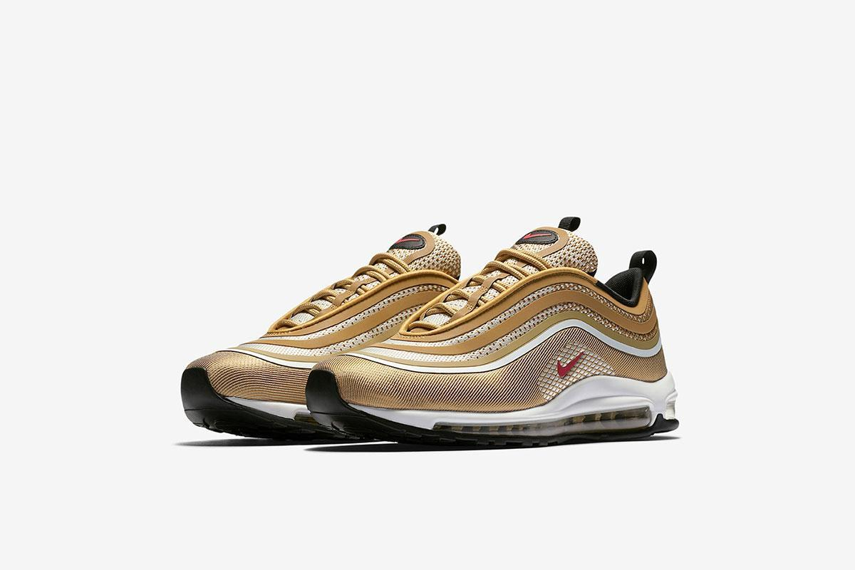 Nike Air Max 97 Ultra Metallic Gold And Summit White New
