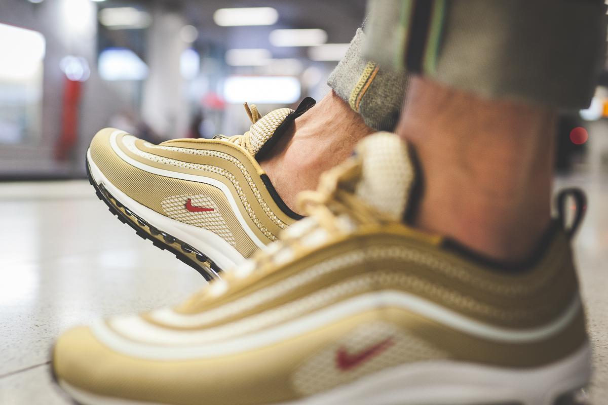 Nike Air Max 97 Ul Metallic Gold Varsity Red Black White