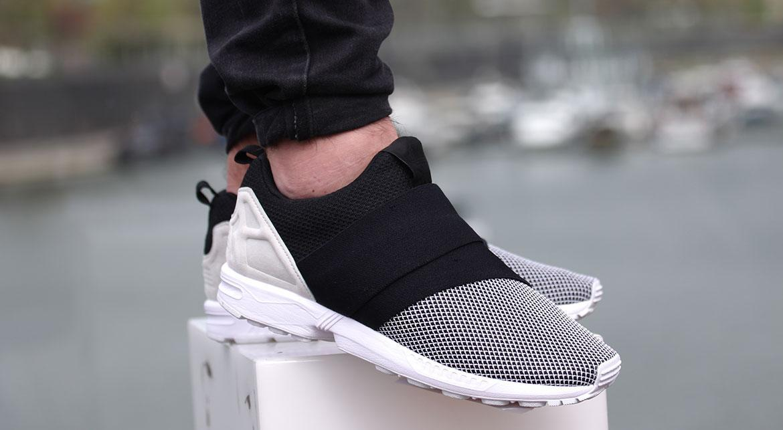 adidas zx flux slip on noir