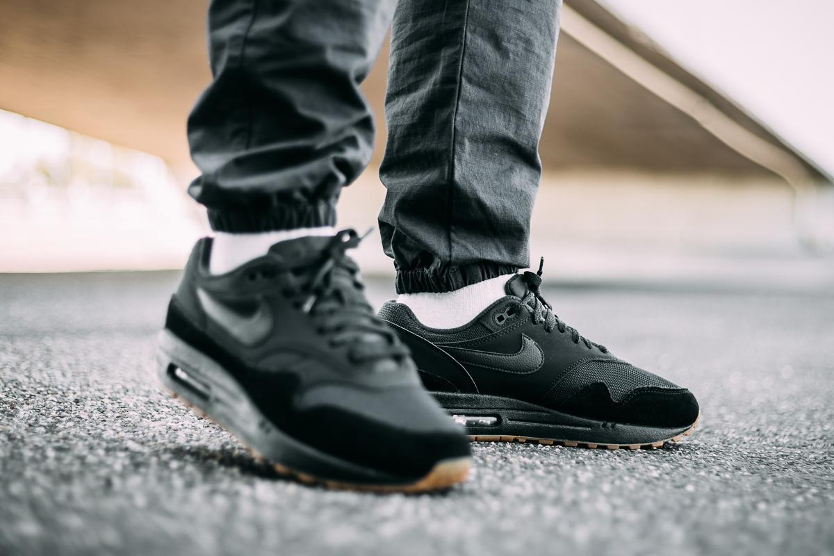 Nike Air Max 1 Black, Gum & Brown