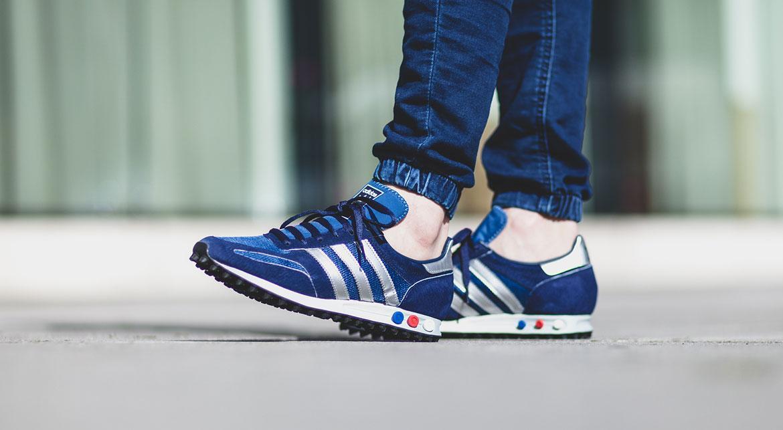 adidas LA Trainer OG shoes blue silver