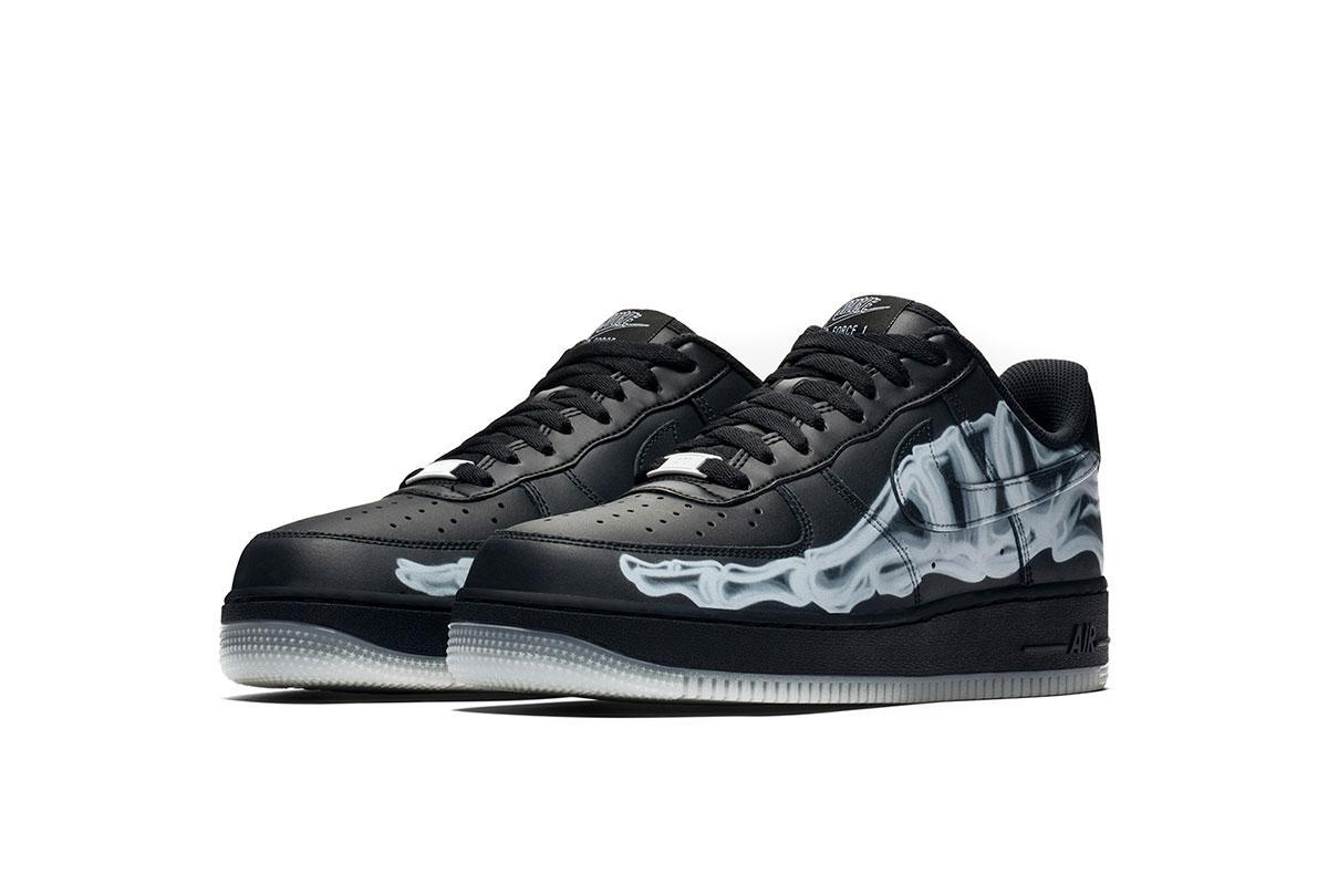 Nike Air Force 1 Low '07 QS 'Black Skeleton' | Pluggi