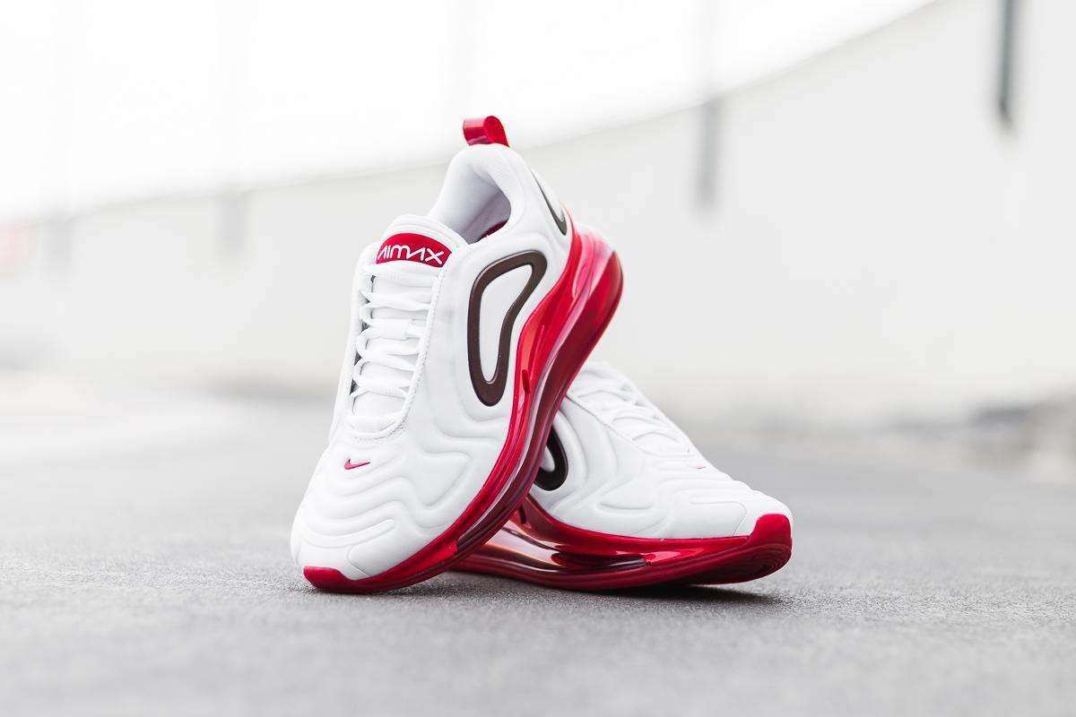 nike air max 720 white gym red