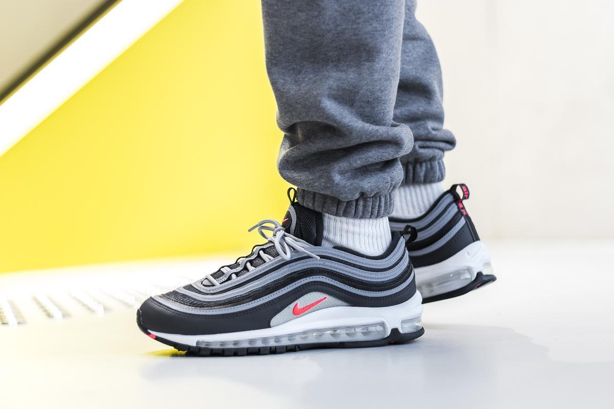 Mens Nike Air Max 97 Essential AnthraciteWolf GreyWhite