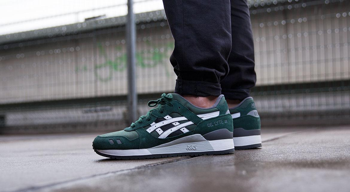 asics gel lyte iii dark green