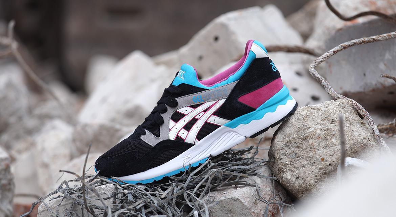 ASICS GEL LYTE V 5 Mens Shoes H508L Black Blue Pink Gray