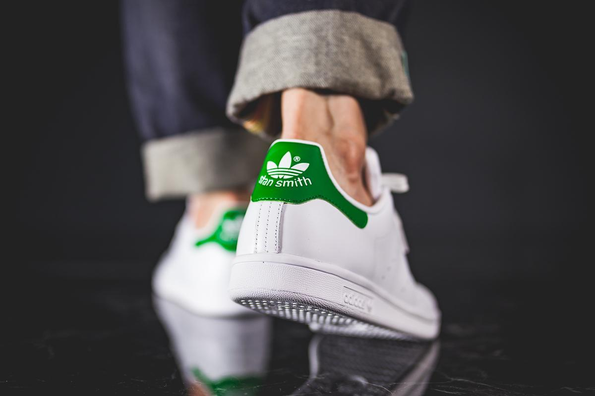 adidas Originals Stan Smith White Green Men Classic Casual Shoes Sneakers M20324