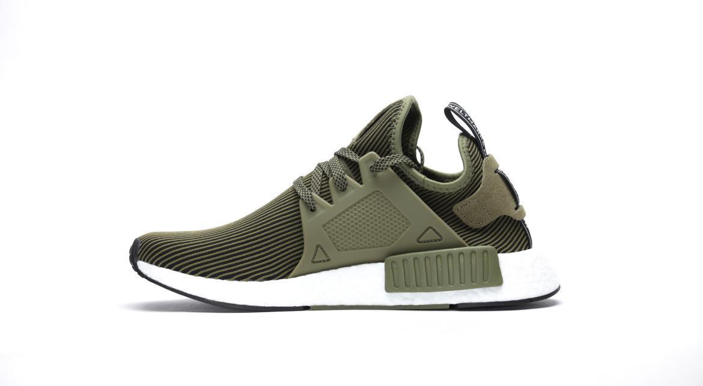Adidas Originals NMD XR1 Olive Runner Primeknit Mens, Adidas