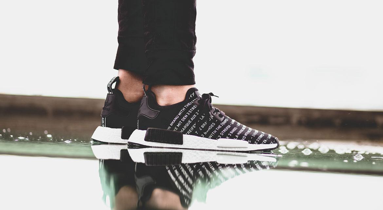 Adidas Originals NMD R1 Blackout 'Three Stripes' Mens Size 8.5 S76519