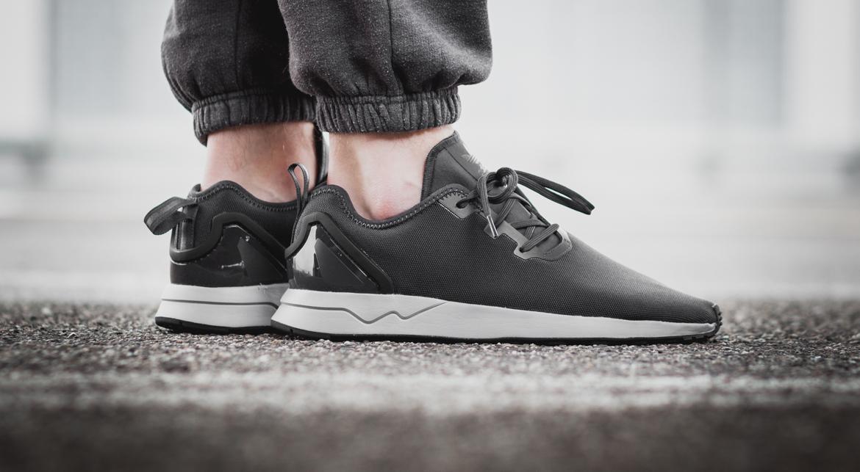 adidas originals gray suede flux adv sneakers