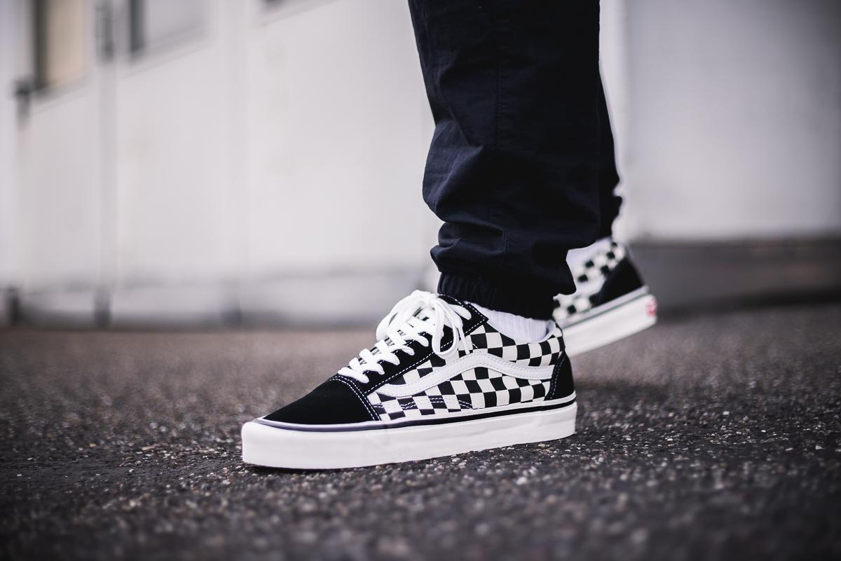 Vans Check Lace Old Skool Outlet Singapore Low Tops Womens