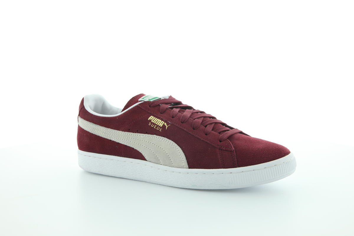 Puma Suede Classic Men/'s Shoes Cabernet Burgundy-White 352634-75