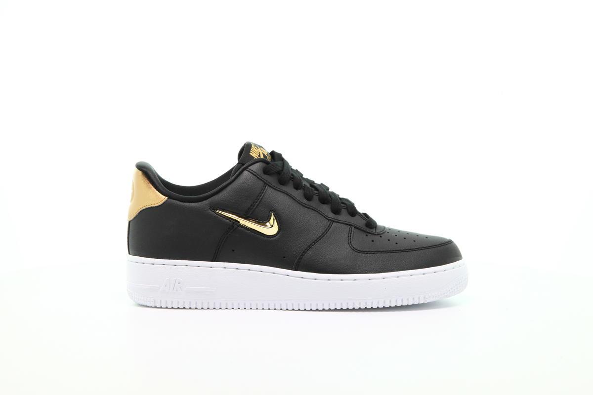 Nike Air Force 1 07 LV8 Black Metallic Gold AJ9507 003 SBD