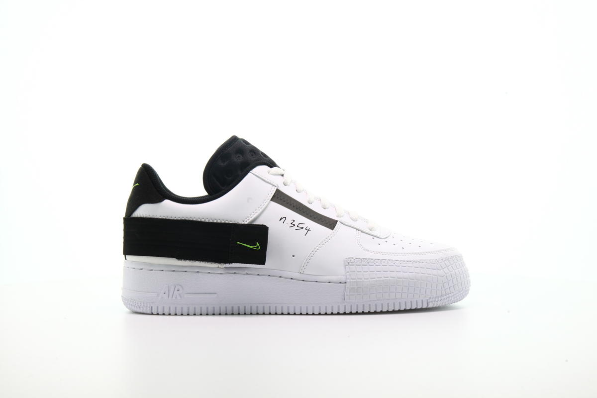 Nike Wmns Air Force 1 Type AF1 White Black Casual Shoes AT7859 101 AT7859 101