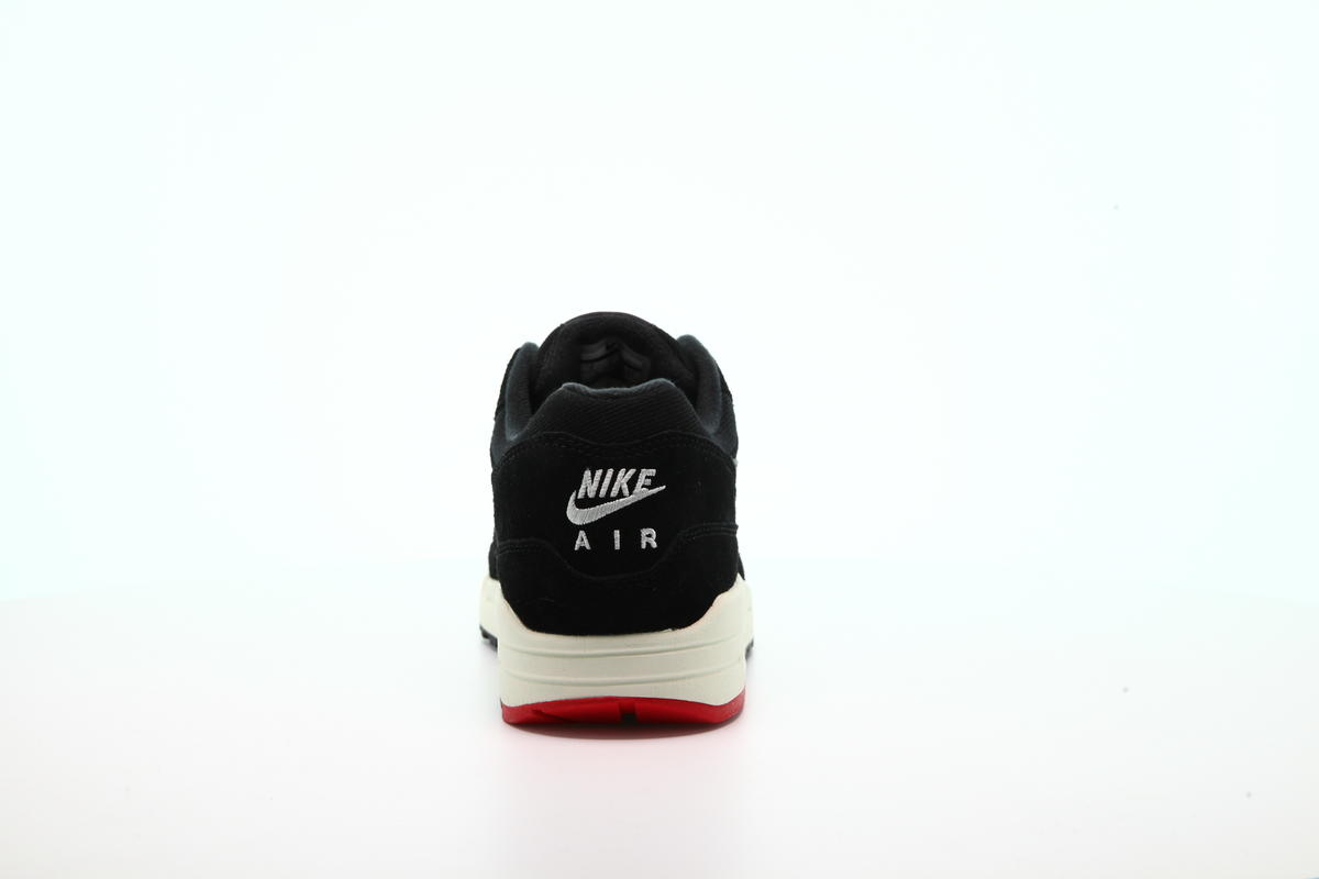 air max 1 premium black oil grey university red sail