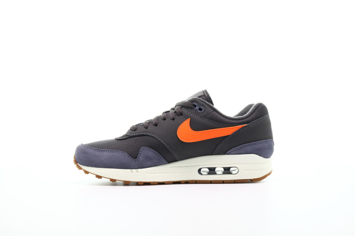nike air max 1 thunder grey/total orange-light carbon