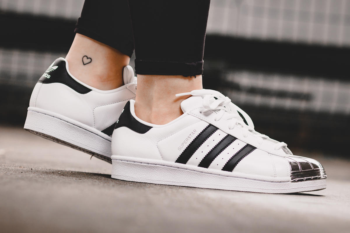 Details about Adidas Superstar Metal Toe W White Black Womens Low Top Sneakers Leather NEW show original title