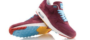 NIKE AIR MAX 1 X PATTA X PARRA BURGUNDY